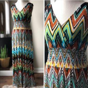 Very vibrant stretchy dress